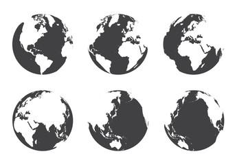 All side around the world . flat design