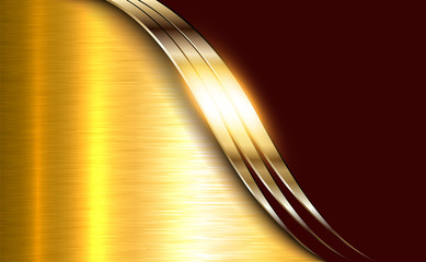 Business elegant background, golden shiny metallic.
