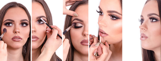 Step by step and see every part of the face makeup