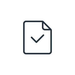 document, paper, blank web thin line icon on white background;