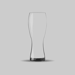 vector image of a beer glass on  gray background