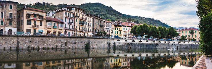the ancient Italian city Dolceaqua. Liguria.