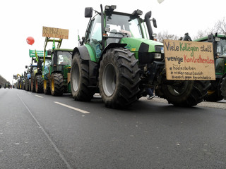 Demonstration der Bauern am 21.01.2017 zur grünen Woche in Berlin.