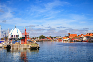 View on the quay in port of Hel, Poland.