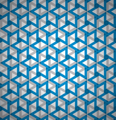 Geometrical background, abstraction wallpaper, transparent volume cubes, 3d vector texture