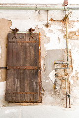 Inside old prison.