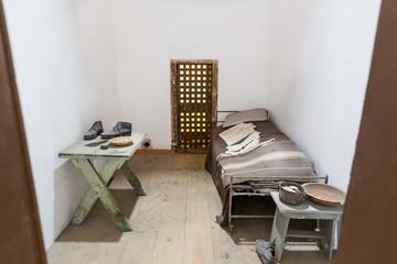 Inside prison cell.