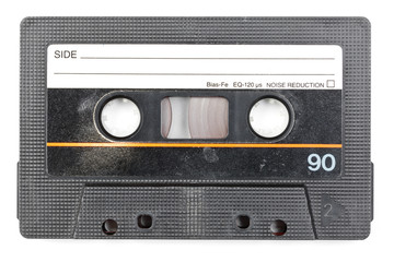 Vintage audio cassette isolated