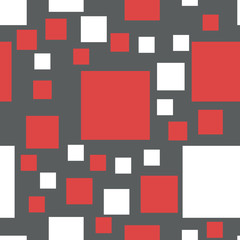 Vector seamless pattern of squares