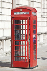 Vintage Red London Telephone Booth.