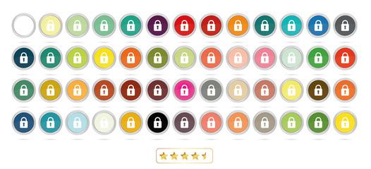 Schloss Buttons - 50 colors