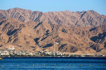 Eilat view to Jordan