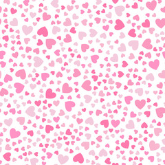 Cute little hearts in seamless pattern