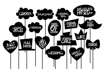 Doodle comic speech bubble black vector