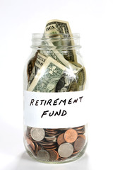 Retirement Fund Money In Jar