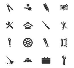 work tools icon set