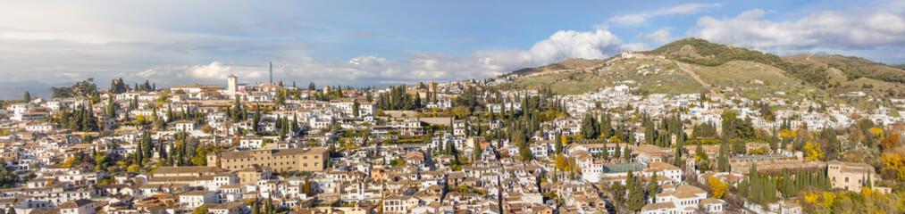 Panoramic view of Granada, Spain