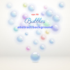 Abstract vector background with colored bubbles.