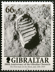 GIBRALTAR - 2001: shows Footprint on the Moon