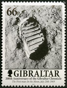 GIBRALTAR - 2001: shows Footprint on the Moon