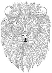 Lion portrait vector graphic illustration
