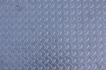 Background of metal plate in silver color