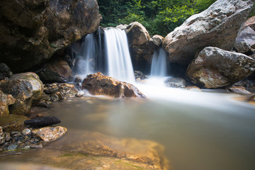 Silent small waterfall - long exposure