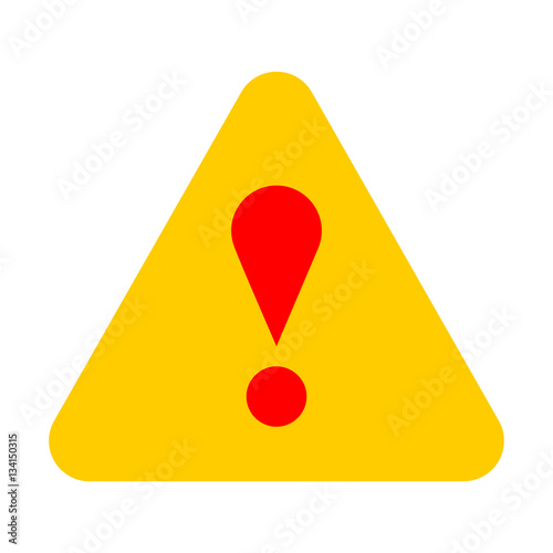 """Yellow triangle exclamation mark icon warning sign ...