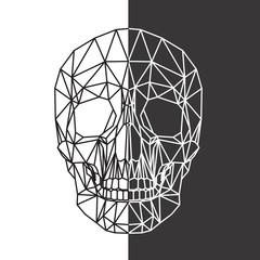 teschio, design geometrico di poligoni