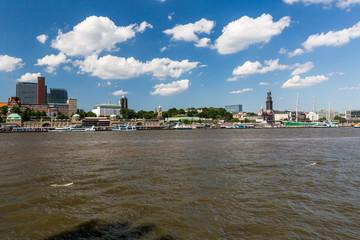 View of the St. Pauli Piers one of Hamburgs major tourist attrac