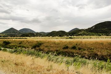 Blick auf die Euganeischen Hügeln südwestlich von Padua, Italien