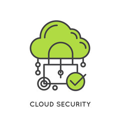 Vector Icon Style Illustration of Cloud Computing Technology, Hosting, Cloud Management, Data Security, Server Storage, Api, Mobile and Desktop Memory, Isolated Web Design Icon