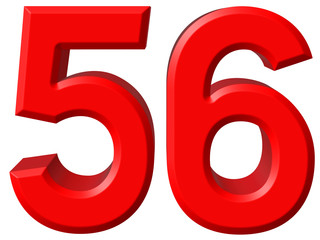 56 >> Numeral 56 Fifty Six Isolated On White Background 3d Render Buy