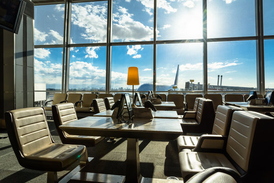 Airport lounge seating area