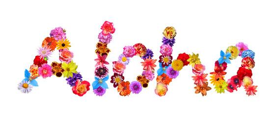 Flower Word Aloha