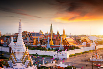 Photo sur Plexiglas Bangkok Grand palace at twilight in Bangkok, Thailand