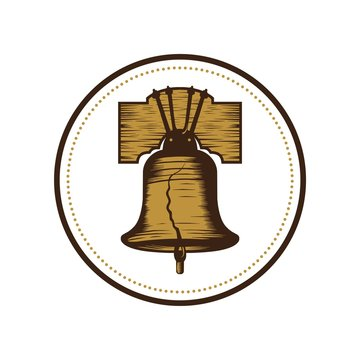 Liberty bell logo vector