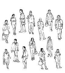 vector sketch of people
