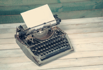 Dirty vintage typewriter