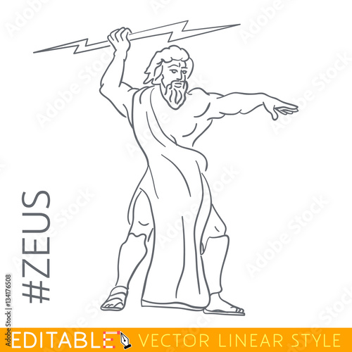 Zeus Face Drawing Easy
