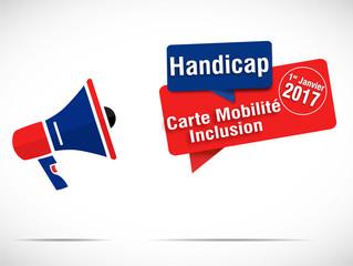 mégaphone : carte mobilité inclusion