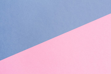 blue and pink pastel background. Top view.