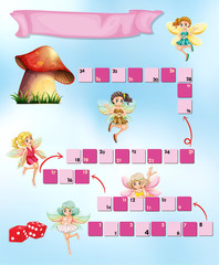 Game template with fairies flying
