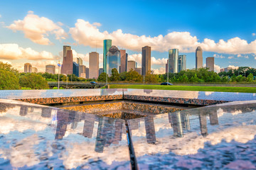 Fototapete - Downtown Houston skyline
