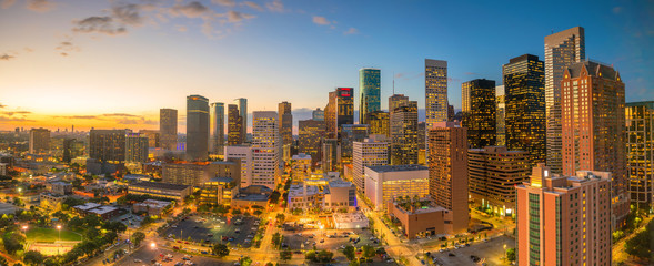 Acrylic Prints United States Downtown Houston skyline