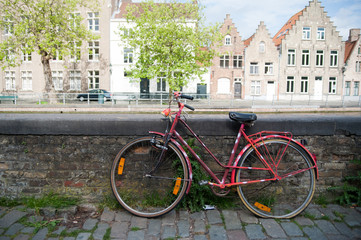 Altes Fahrrad in Brügge