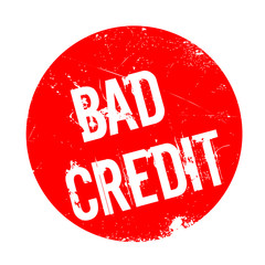 Bad Credit rubber stamp. Grunge design with dust scratches. Effects can be easily removed for a clean, crisp look. Color is easily changed.