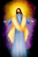 Easter resurrection religious background - the risen Lord Jesus