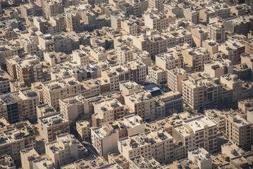 Aerial view of Tehran city, Iran