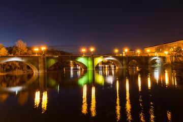 River Ebro in night